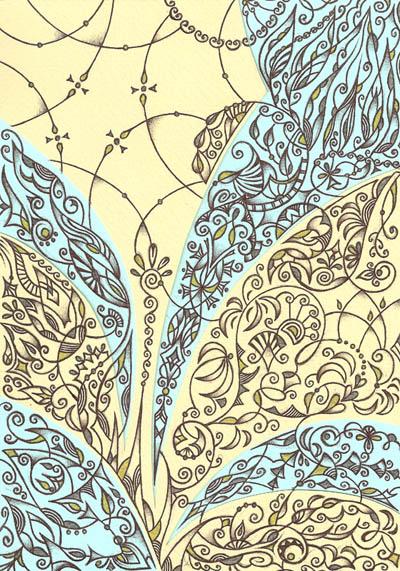 Метафорические карты, рисунки шариковыми ручками Раскрытие