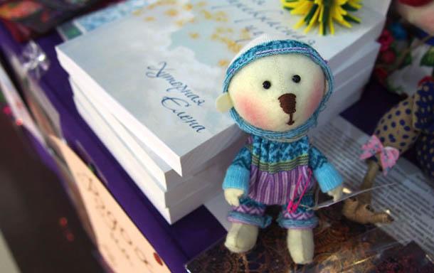 Куклы ручной работы Голубой медвежонок
