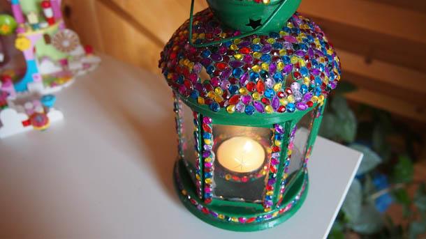 Декор лампы Подсвечник Икеа с горящей свечкой