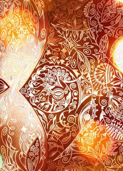 Душевные рисунки, метафорические карты Коричное солнце
