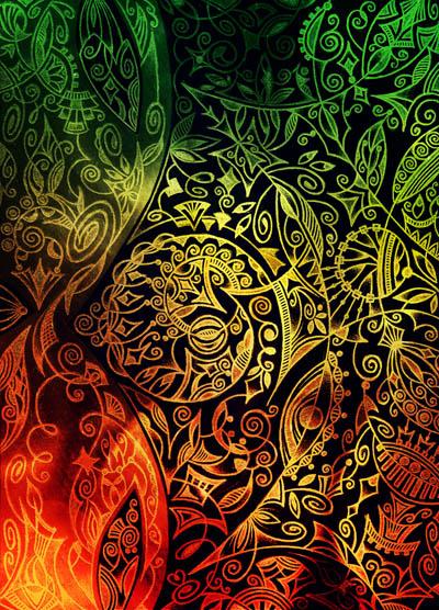 Метафорические карты, вдохновляющие рисунки Летнее солнцестояние