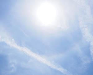 Небо, солнце, облака, след от самолета, Исполнение желаний