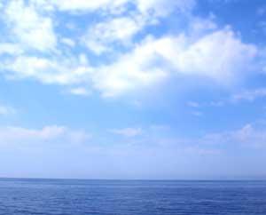 Синее море, голубое небо облака Простые техники с метафорическими картами