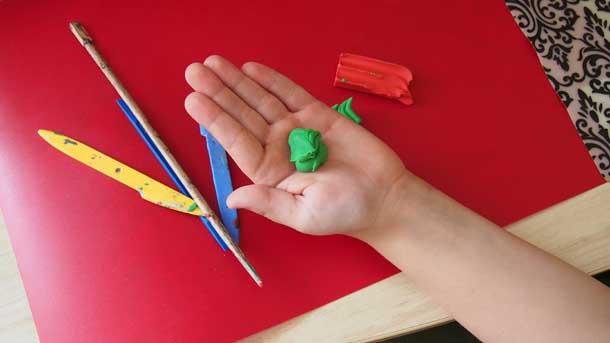 Как построить дом из пластилина Кусочек пластилина