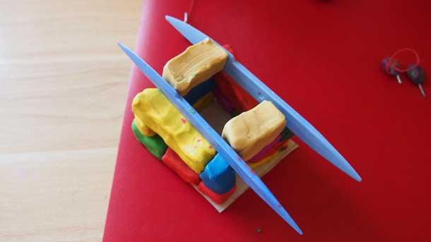 Как построить дом из пластилина Выравнивание стеками