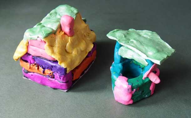 Как построить дом из пластилина Дом для Иры вид сзади