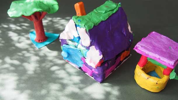 Как построить дом из пластилина Дом со штукатуркой