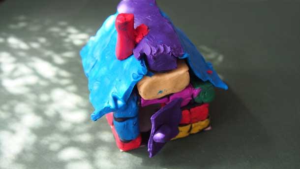 Как построить дом из пластилина Мой домик