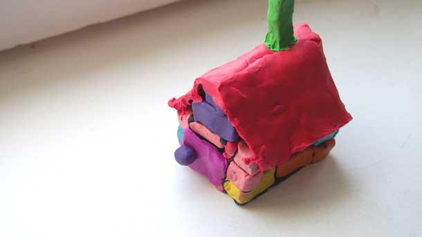 Как построить дом из пластилина Дом для нашей Любы