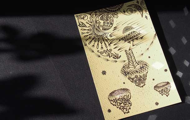 Рисунки шариковыми ручками Летящее дерево фото