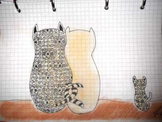 Как начать заниматься творчеством Орнаменты и коты Катерины