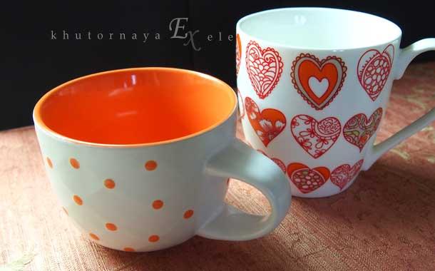 Моя любимая кружка Оранжевая кружка с сердцами