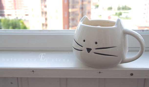 Моя любимая кружка Кружка в виде кошки