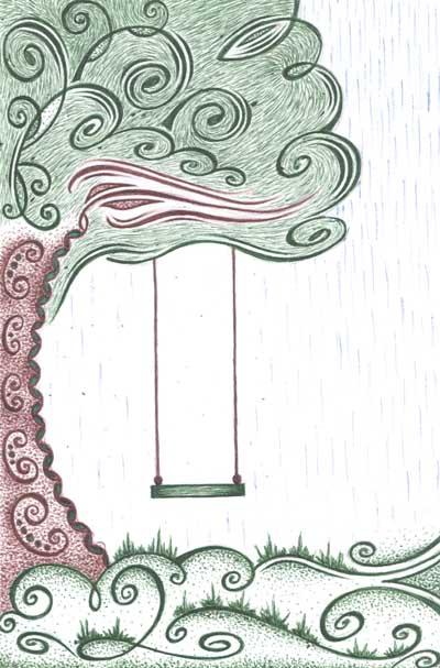 Рисунки для метафорических карт Дерево качели дождь