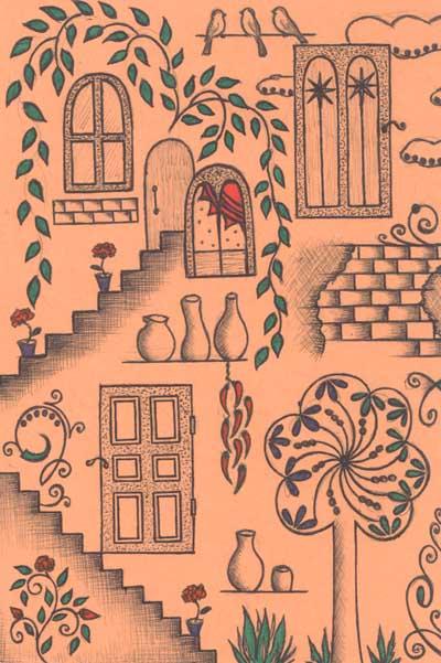 Рисунки для метафорических карт Восточный дворик