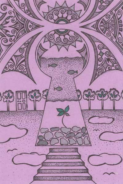 Рисунки для метафорических карт Замочная скважина росток