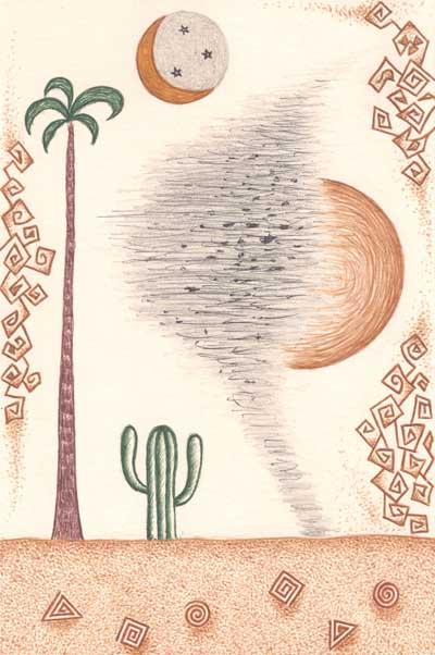 Рисунки для метафорических карт Пустыня кактус смерч