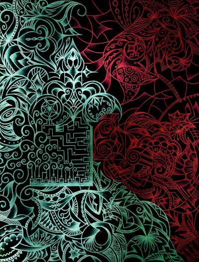 Интуитивные карты, необычные красивые рисунки Сердце дракона