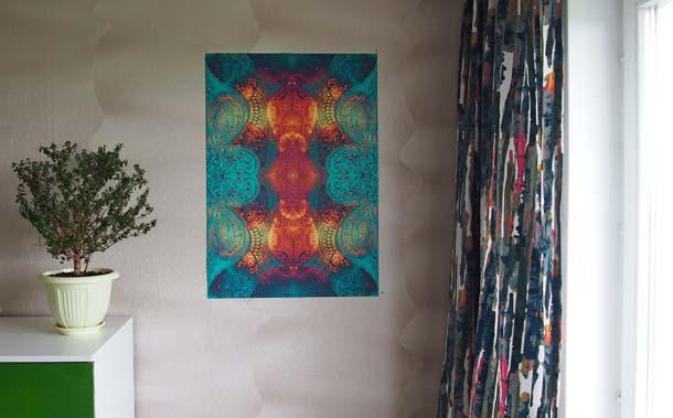 Огненные рисунки Постер в интерьере горизонтальное