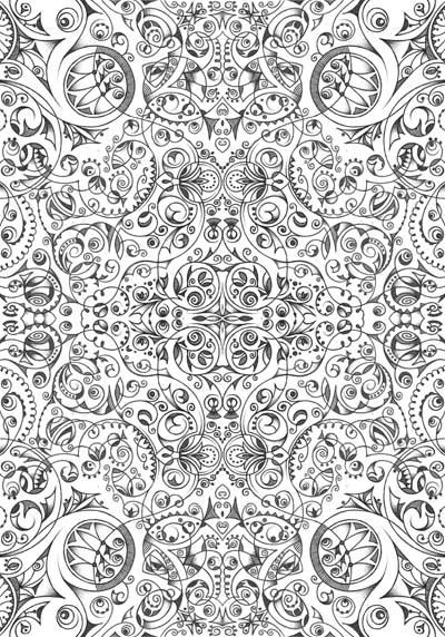 Интуитивные карты Хуторной Елены, графические черно-белые рисунки Гармония в душе
