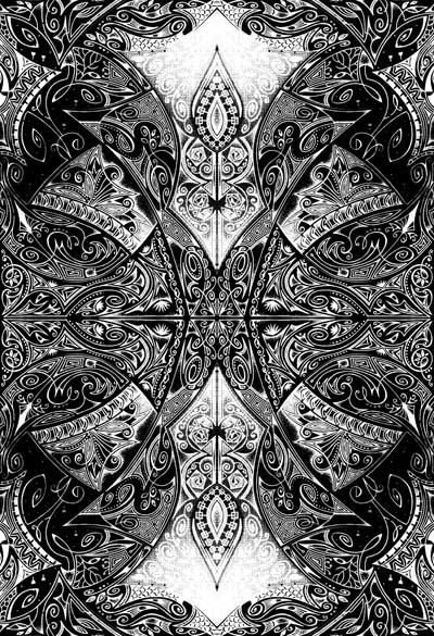 Черно-белые графические рисунки, интуитивные карты Волнорез