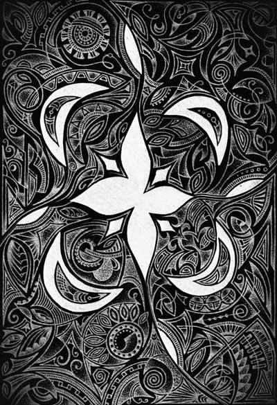 Метафорические карты черно-белые Когда неспокойно на душе