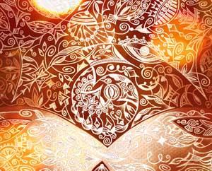 Душевные рисунки Коричное солнце Миниатюра
