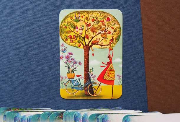 Метафорические карты техника для мотивации Девушка и дерево