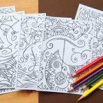 Семь чувств — открытки-раскраски для взрослых