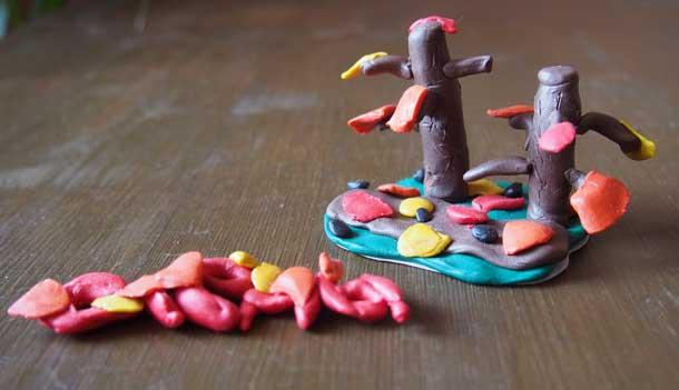 Интересные поделки из пластилина Осенняя поделка