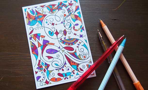 Красивые раскраски антистресс