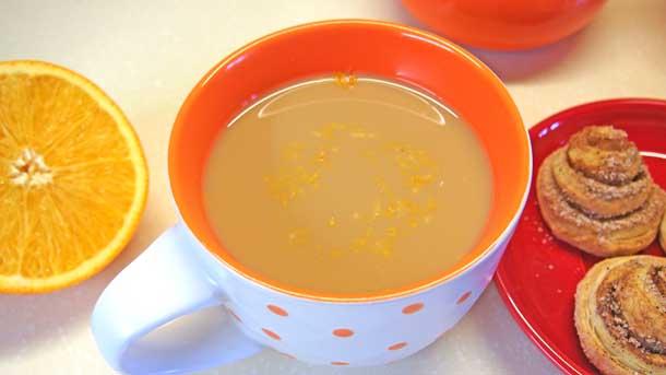 Апельсиновый раф В чашке без пенки