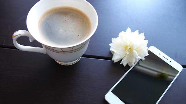 Как забыть человека Чашка телефон цветок