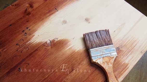 Как сделать деревянный фон Процесс покраски