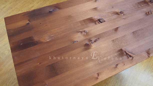 Как сделать деревянный фон Цвет орех