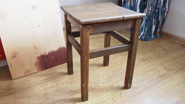 Как сделать деревянный фон Табуретка