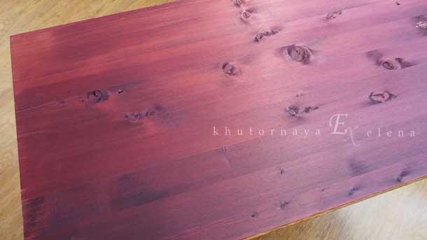 Как сделать деревянный фон Цвет махагон