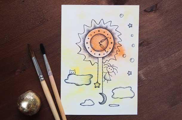 Поиск новых идей Солнечные часы