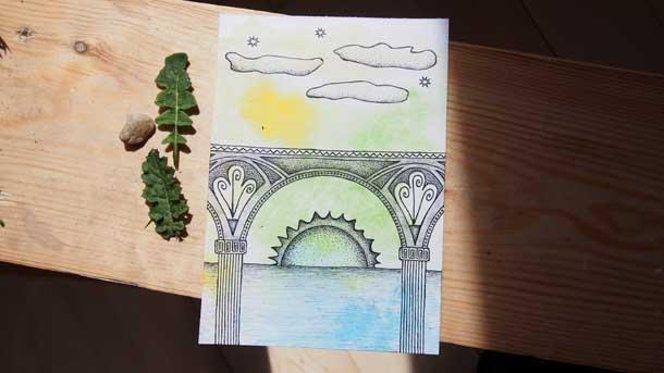 Поиск новых идей Солнце под мостом