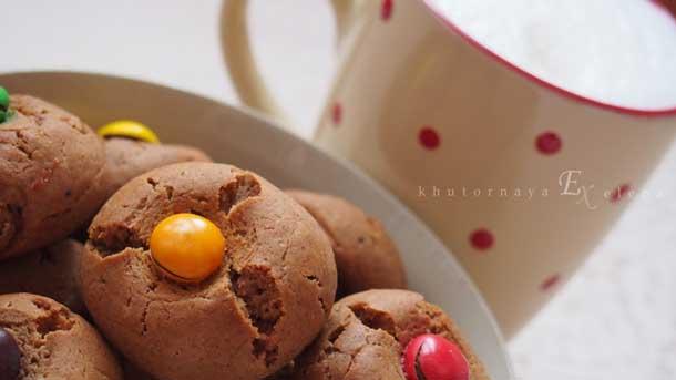Простые рецепты сладкой выпечки Печенье с шоколадом