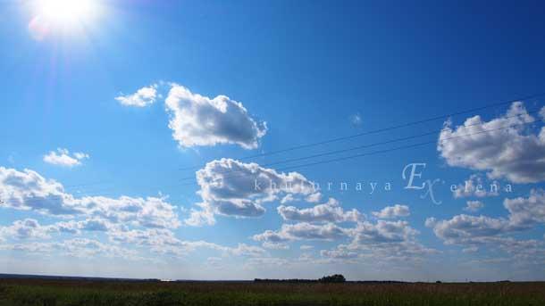 Отдых на природе летом Дорога поля небо