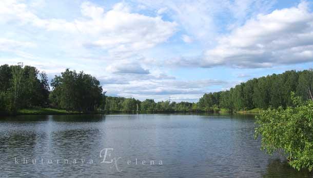 Отдых на природе летом Озеро зеленые берега