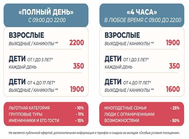 Новосибирский аквапарк Аквамир Цены на билеты
