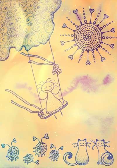Метафорические карты Ангел-хранитель Хранитель радости
