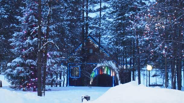Отель Борвиха Бердск Лес в новогоднем оформлении