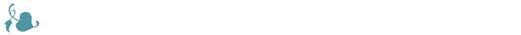 Разделитель бирюзовый листик