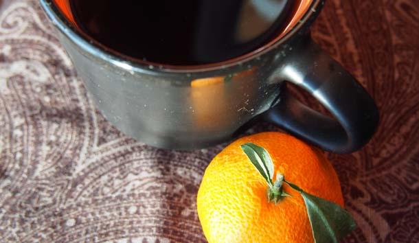 Настрой на позитивное мышление Кофе и мандарин