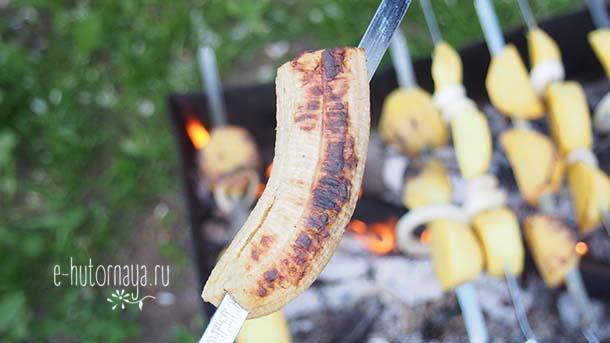 Вкусные летние блюда Бананы гриль