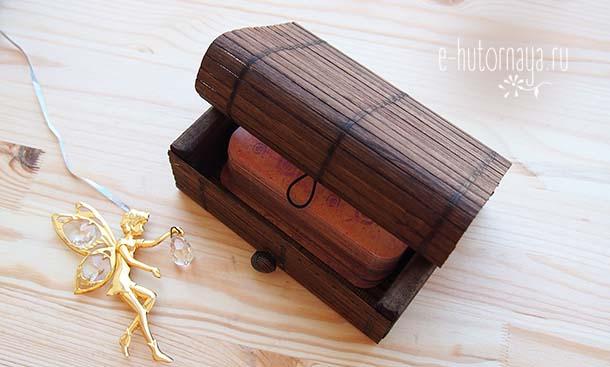 Бамбуковая коробочка для метафорических карт С фотоколодой