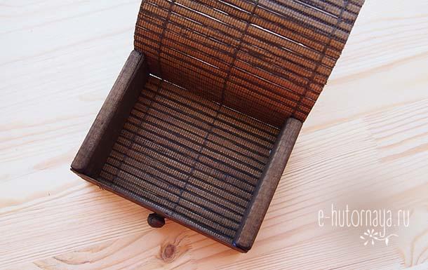 Бамбуковая коробочка для метафорических карт Открытая